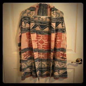 Sun and Shadow shawl. Native design.